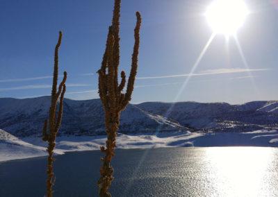 Winter Sun on Snake River Idaho