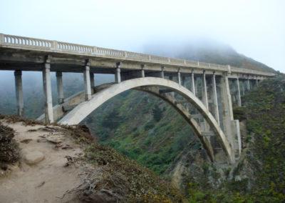big sur bridge under fog